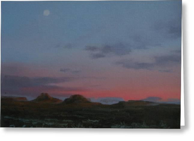 Valley Of The Moon Paintings Greeting Cards - Valley of the Gods Plein Air Greeting Card by Mia DeLode