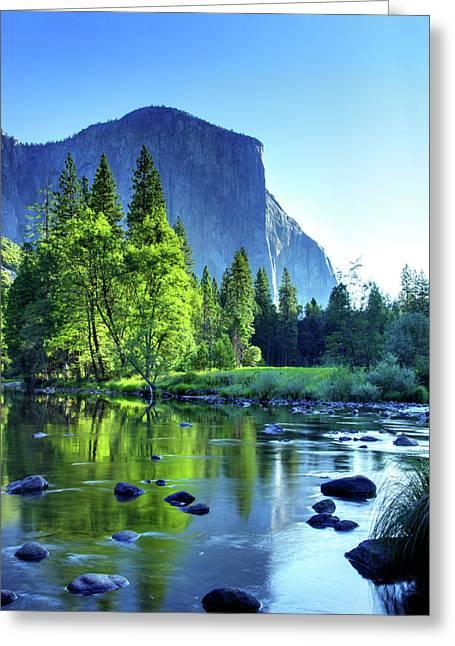 Yosemite Greeting Cards - Valley View Morning Greeting Card by Rick Berk