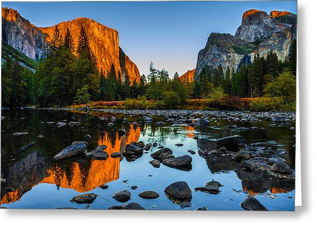 Cathedral Rock Greeting Cards - Valley View Yosemite National Park Greeting Card by Scott McGuire