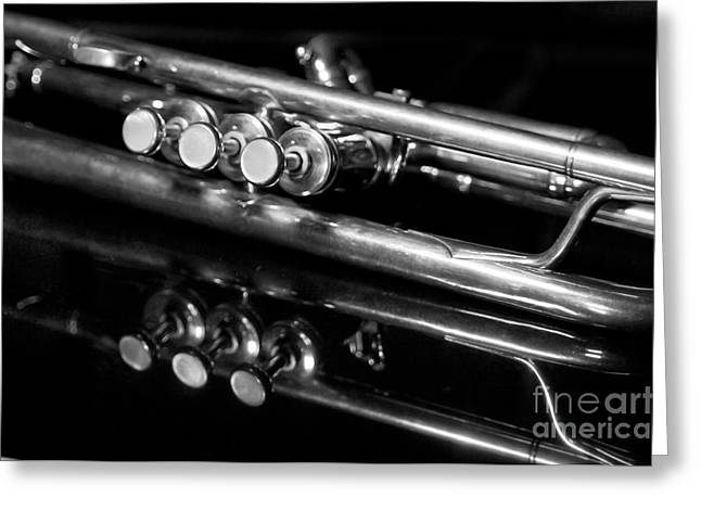 Trumpets Greeting Cards - Valves Greeting Card by Dan Holm