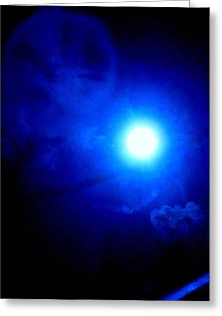Vampire Moon Greeting Card by Allen n Lehman