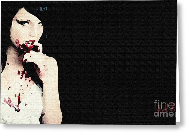 Figure Based Greeting Cards - Vampire. Greeting Card by Red Deviant
