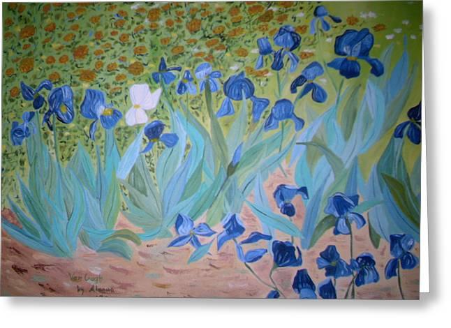 Alanna Hug-mcannally Greeting Cards - Van Gogh Iris by Alanna Greeting Card by Alanna Hug-McAnnally