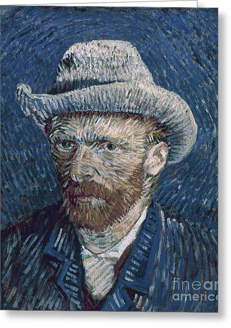 Self-portrait Photographs Greeting Cards - Van Gogh: Self-portrait Greeting Card by Granger