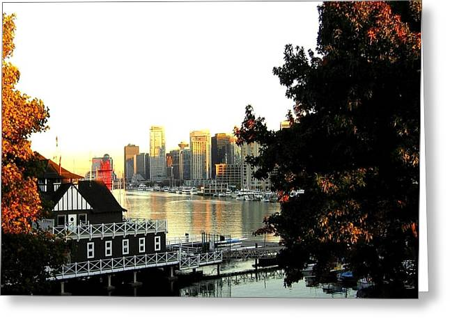 Vancouver At Sundown Greeting Card by Will Borden