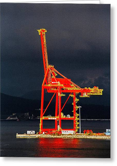Westen Greeting Cards - Vancouver BC - Harbour Greeting Card by Juergen Weiss