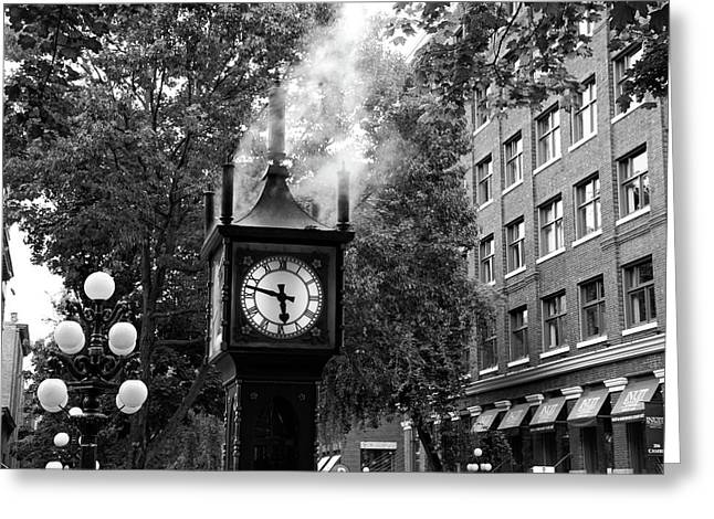 Vancouver Greeting Cards - Vancouver city steam clock in Gastown Greeting Card by Pierre Leclerc Photography