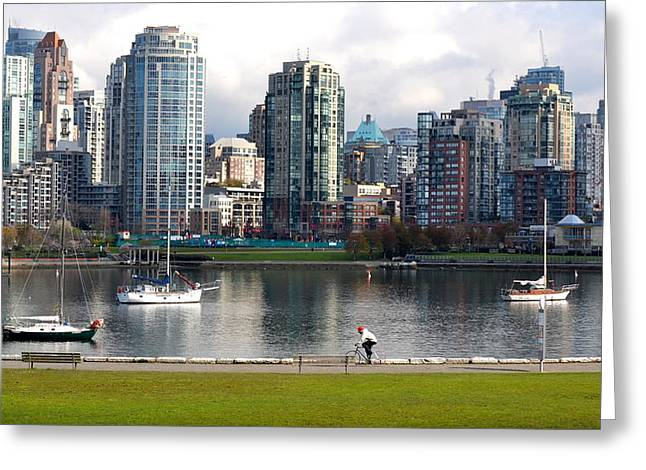 Vancouver Greeting Cards - Vancouver Cityscape Greeting Card by Fraida Gutovich