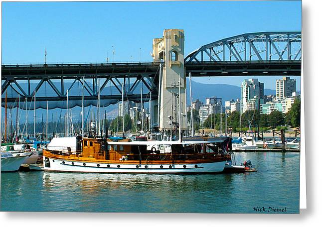 Vancouver Mixed Media Greeting Cards - Vancouver Classic Greeting Card by Nick Diemel
