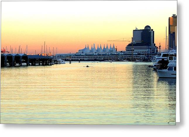 Vancouver Greeting Cards - Vancouver Harbor At Sundown Greeting Card by Will Borden