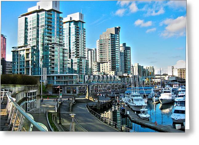 North Vancouver Greeting Cards - Vancouver Harbour Greeting Card by Kamil Swiatek