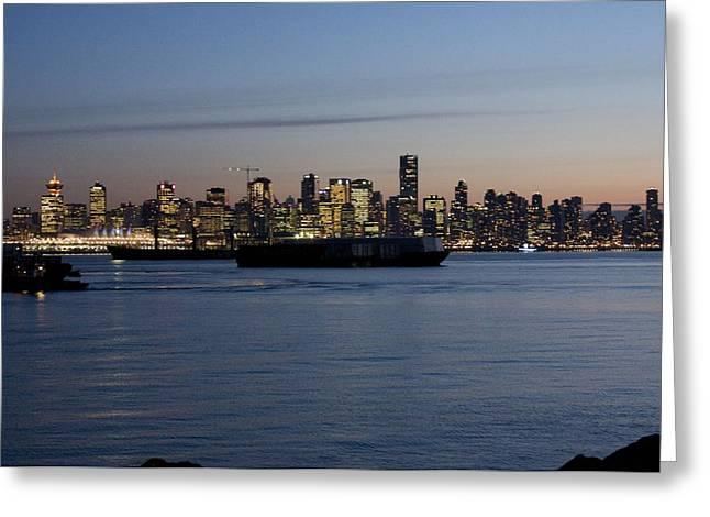 Bonnes Eyes Fine Art Photography Greeting Cards - Vancouver Lights  Greeting Card by Bonnes Eyes Fine Art Photography