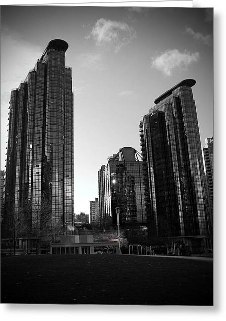 North Vancouver Greeting Cards - Vancouver Skyscrapers Greeting Card by Kamil Swiatek