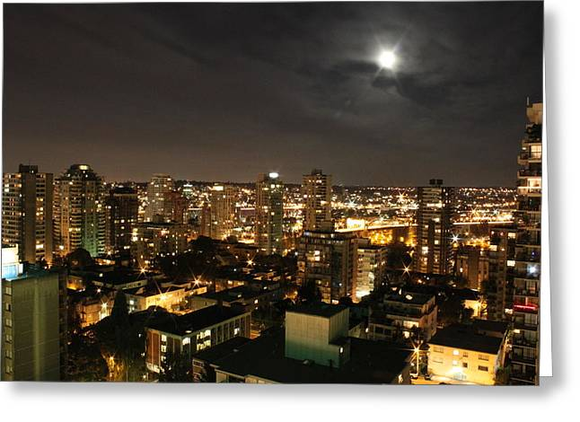 Vancouver At Night Greeting Cards - Vancouver State of Mind Greeting Card by Angie Wingerd