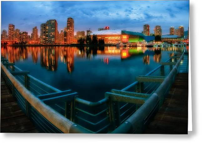 Yaletown Greeting Cards - Vancouvers Yaletown Dreamscape Greeting Card by Craig Roberts