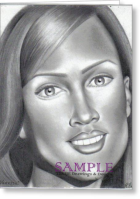 Refurbished Photos Drawings Greeting Cards - Vanessa Greeting Card by Rick Hill