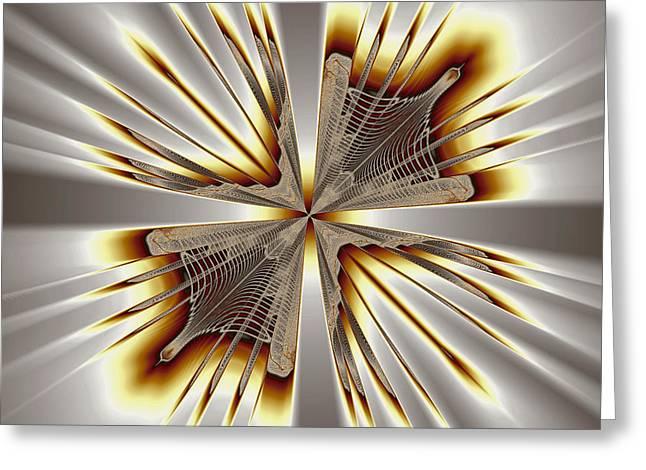 Eggleston Greeting Cards - Vanishing Point Greeting Card by Mark Eggleston
