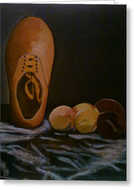 Vans And Peaches Greeting Card by Haley Lightfoot