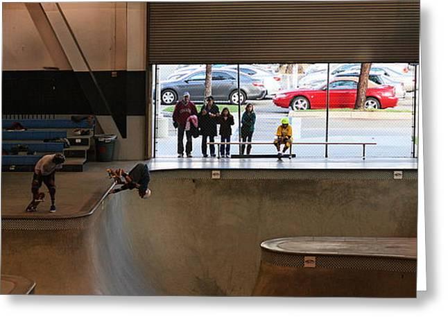 Wipe Out Greeting Cards - Vans Skatepark Greeting Card by Viktor Savchenko