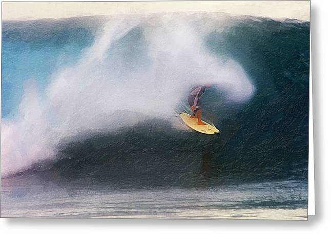 Banzai Pipeline Greeting Cards - Vapor Trail Greeting Card by Ron Regalado