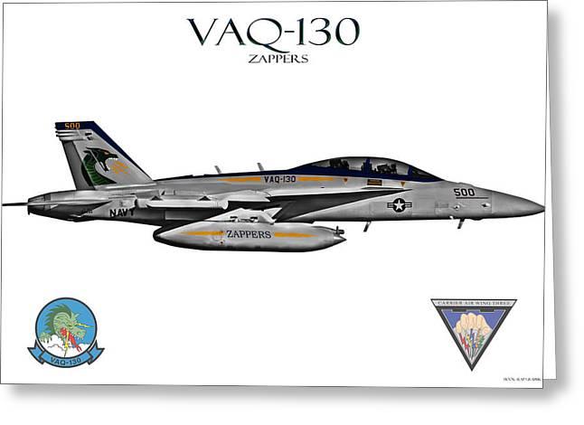 Fa-18 Greeting Cards - VAQ-130 Growler Greeting Card by Clay Greunke