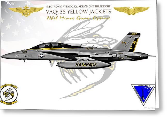 Fa-18 Greeting Cards - VAQ-138 Growler Greeting Card by Clay Greunke