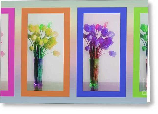 Reception Greeting Cards - Variety Tetraptych Greeting Card by Cheryl Young
