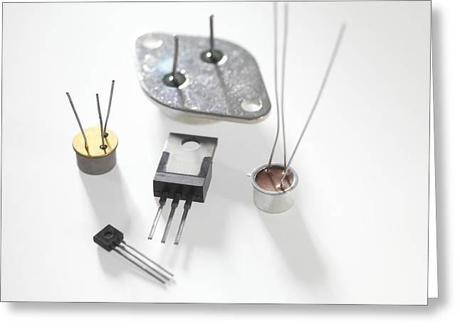 Computer Parts Greeting Cards - Various Transistors Greeting Card by Tek Image
