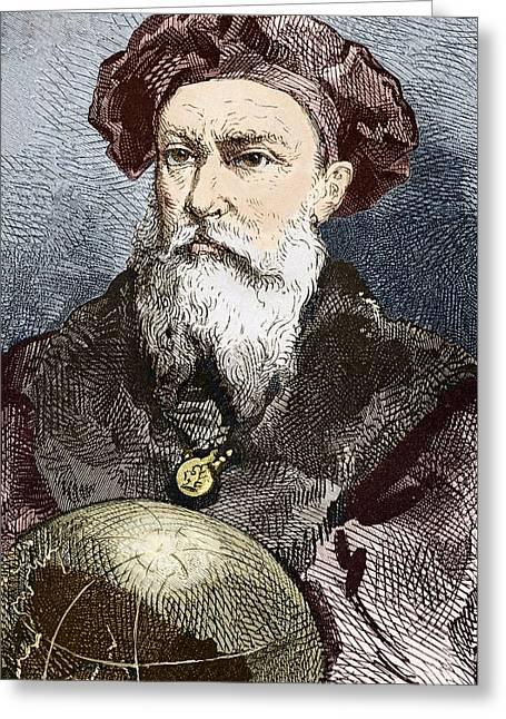 Surname G Greeting Cards - Vasco Da Gama, Portuguese Explorer Greeting Card by Sheila Terry