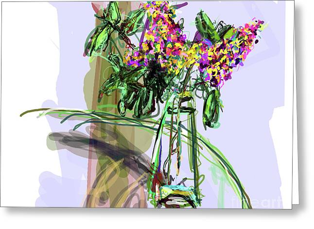 Unreal Greeting Cards - Vase Placed Well by Beth Greeting Card by James Thomas