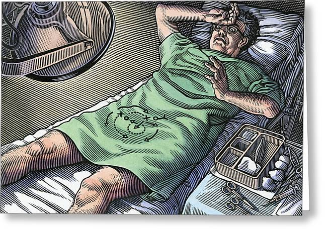 Concern Greeting Cards - Vasectomy Fear, Conceptual Artwork Greeting Card by Bill Sanderson