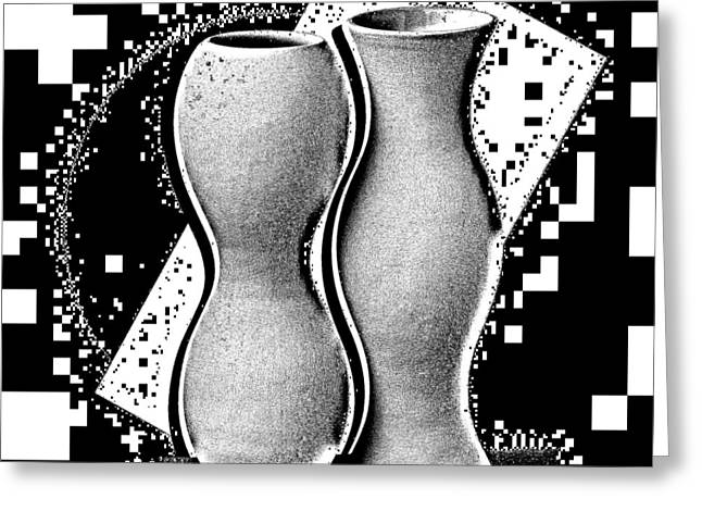 Vases Greeting Card by Mauro Celotti