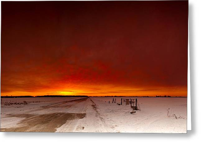 Sky Fire Greeting Cards - Vast Sunset Greeting Card by Cale Best