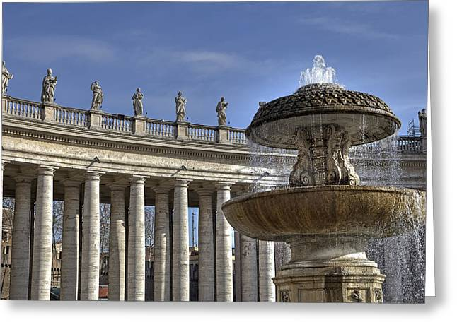 Basilica Di San Pietro Greeting Cards - Vatican - St. Peters Square Greeting Card by Joana Kruse