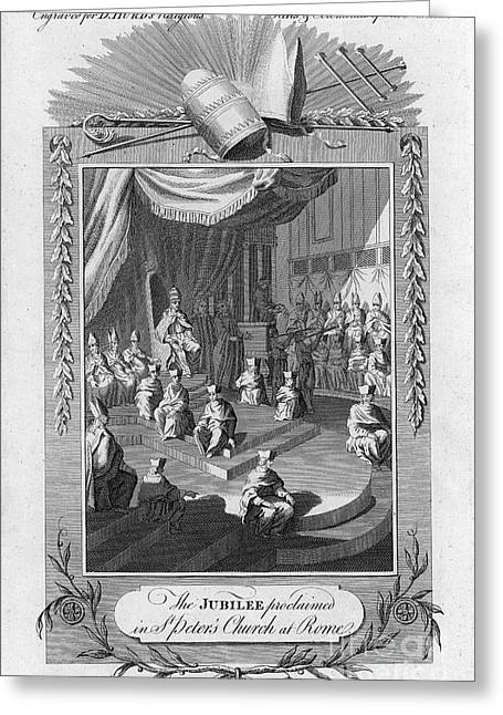 18th Century Greeting Cards - Vatican Jubilee Greeting Card by Granger