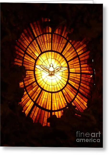 Dove Greeting Cards - Vatican Window Greeting Card by Carol Groenen