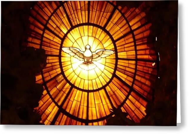 Vatican Window Greeting Card by Carol Groenen