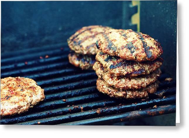 Hamburger Greeting Cards - Vegans Nightmare Greeting Card by Susie Weaver