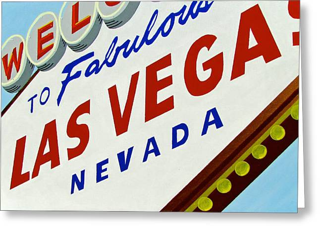 Las Vegas Art Paintings Greeting Cards - Vegas Tribute Greeting Card by Slade Roberts