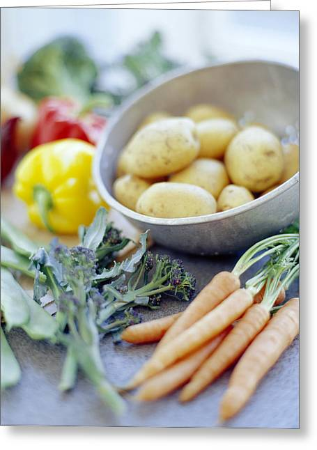 Broccoli Greeting Cards - Vegetables Greeting Card by David Munns