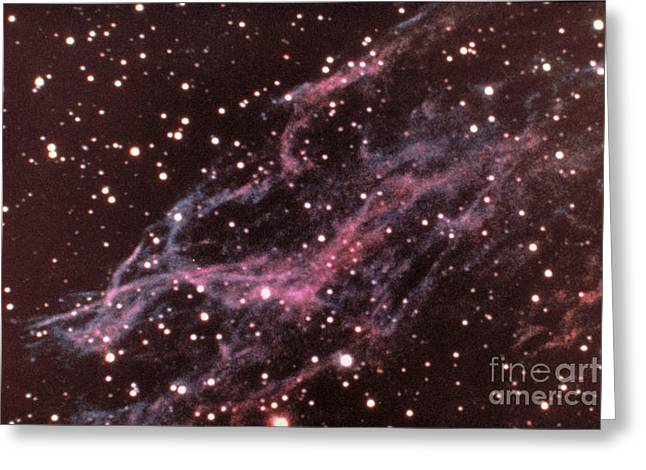 Veil Nebula In Cygnus Greeting Card by USNO / Science Source