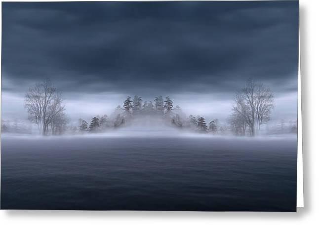 Veiled Digital Greeting Cards - Veil of Mist Greeting Card by Lourry Legarde