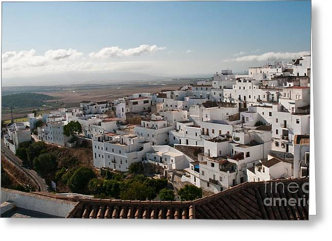 East Asian Ethnicity Greeting Cards - Vejer de la Fontere Greeting Card by Jim Chamberlain