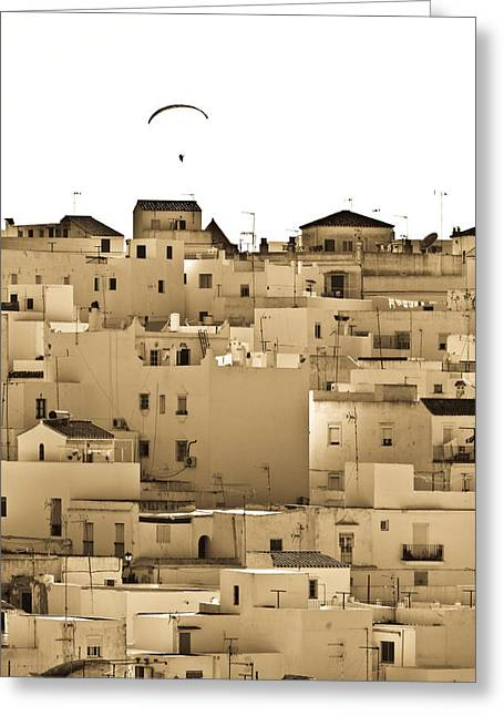 Pueblo Blanco Greeting Cards - Vejer Rooftops Greeting Card by Neil Buchan-Grant