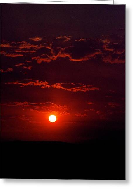 Sunset Posters Greeting Cards - Velvet Sun Greeting Card by Kevin Bone