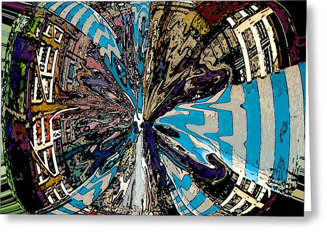 Color Wheel Art Greeting Cards - Venetian Butterfly Greeting Card by Mindy Newman