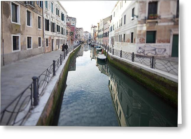 Venetian Canal - Selective Focus  Greeting Card by Tilman Winkler
