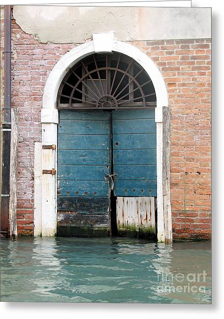 Chianti Greeting Cards - Venetian door Greeting Card by Italian Art