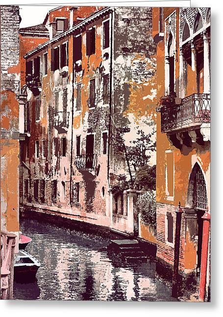 Venetian Serenity Greeting Card by Greg Sharpe