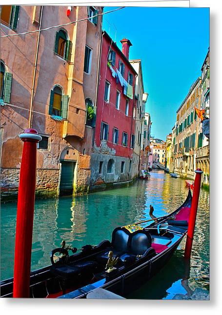 Venetian Canals Greeting Cards - Venetian Street Greeting Card by Dorota Nowak
